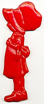 Vintage Holly Hobbie Girl Cookie Cutter (Image1)