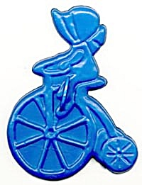 Vintage Holly Hobbie Girl on Bike Cookie Cutter (Image1)