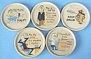 Vintage Wooden Comic Coasters (Image1)