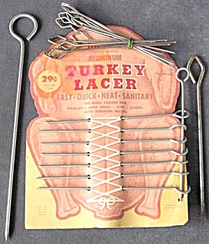 Vintage Turkey Lacer Skewers on Original Card (Image1)