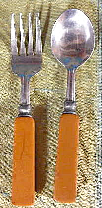 Art Deco Bakelite Childs Flatware Set