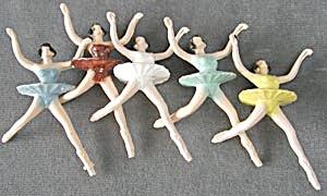 Vintage Ballerina Cake Toppers Set of 6 (Image1)