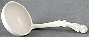 Vintage White Ladle with Fancy Handle  (Image1)
