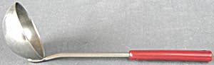 Vintage Ladle With Red Handle