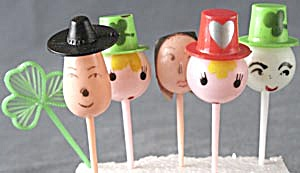 Face Cake Toppers Set of 5 (Image1)