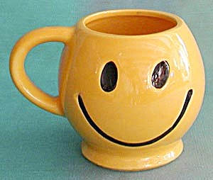 Vintage Mccoy Smiley Mug