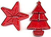 Vintage Star & Christmas Tree  Cookie Cutters (Image1)