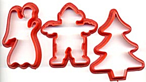 Vintage Christmas Cookie Cutters Set Of 3