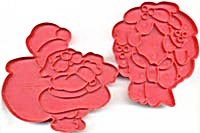 Vintage Wilton Santa & Wreath Cookie Cutters