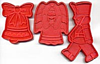 Red Christmas Cookie Cutters Set Of 3