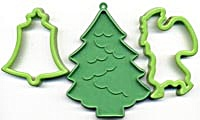 Vintage Green Christmas Cookie Cutters Set of 3 (Image1)