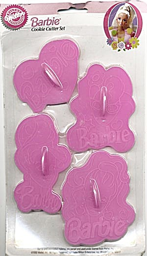 Wilton Barbie Plastic Cookie Cutters MIP (Image1)