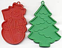 Vintage Snowman & Christmas Tree Cookie Cutters (Image1)