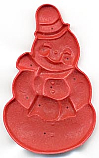 Vintage Red Snowman Cookie Cutter (Image1)
