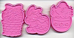 Easter Pink Cookie Cutters Set Of 3