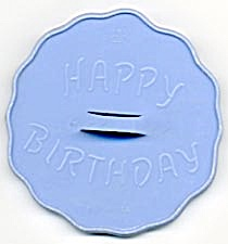Vintage HRM Blue Happy Birthday Cookie Cutter (Image1)