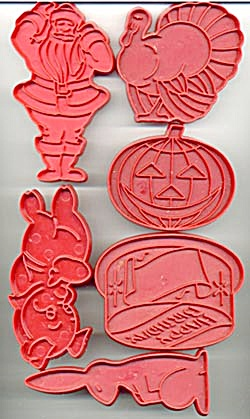Vintage Tupperware Holiday Cookie Cutters