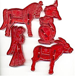 Vintage Animal & Angel Cookie Cutters (Image1)