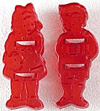 Vintage HRM Plastic Boy & Girl Cookie Cutter (Image1)