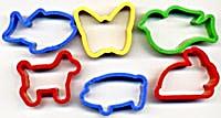 Mini Plastic Animal Cookie Cutters (Image1)