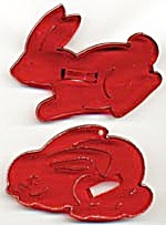 Vintage Bunnies Cookie Cutters With Crown