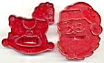 Vintage Hrm Santa & Rocking Horse Cookie Cutters