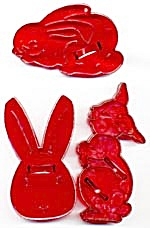 Vintage Bunny Rabbit Cookie Cutters Set Of 3