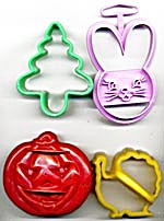 Vintage Holiday Cookie Cutters Set Of 4