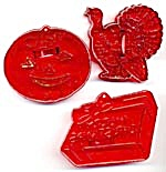 Vintage Holiday Cookie Cutters Set Of 3