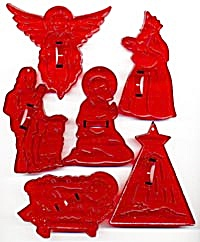 Vintage Christmas Cookie Cutters Set Of 6