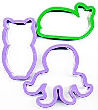 Cookie Cutters Octopus Owl Whale Set Of 3