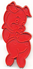 Vintage Tupperware Shy Little Pig Cookie Cutter