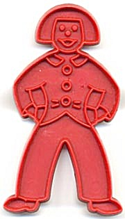 Vintage Tupperware Dutch Boy Cookie Cutter (Image1)