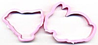 Pink bunny and Chick Cookie Cutters (Image1)