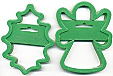 Vintage Wilton Large Angel & Holly Cookie Cutters (Image1)