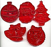 Vintage Hrm Christmas Cookie Cutters Set Of 5