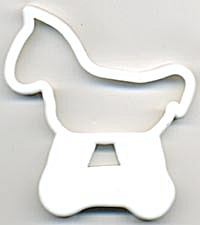Vintage White Horse Cookie Cutter (Image1)