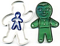 Vintage Gingerbread Boy Cookie Cutters Set of 3 (Image1)