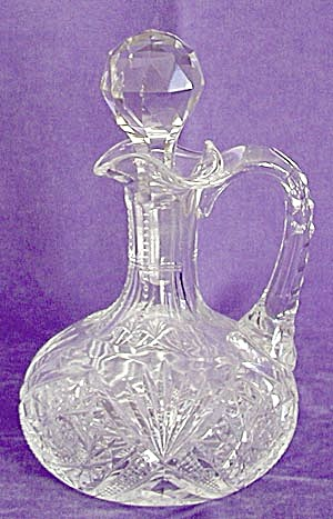 Cut Glass Buzz Star Cruet (Image1)