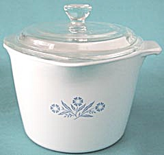 Vintage Corning Ware Cornflower 1 Quart With Glass Lid