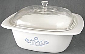 Vintage Corning Ware Blue Cornflower Dutch Oven (Image1)