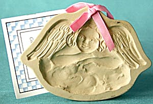 Brown Bag Cookie Mold Angel On Clouds (Image1)