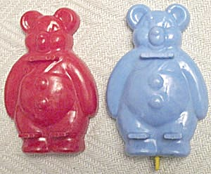 Vintage Bear & Clown Molds Set Of 3