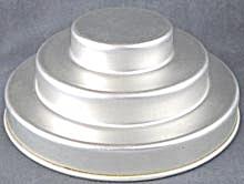Vintage Aluminum 3 Tiered Jello Mold / Cake Pan (Image1)