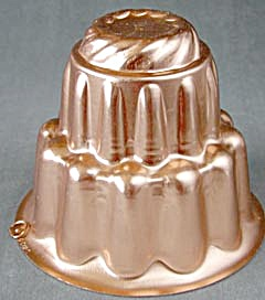 Vintage Large Copper-tone Jello Molds