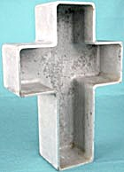 Vintage Heavy Cast Aluminum Cross Pan