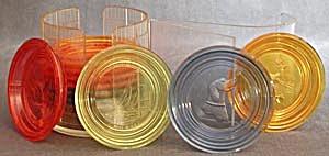 Vintage Plastic Coaster Set (Image1)