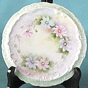 Signed Hand Painted Flower Trivet (Image1)