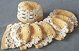 Vintage Hand Crocheted Glass Socks (Image1)