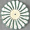 Vintage Crocheted Green Pot Holder (Image1)